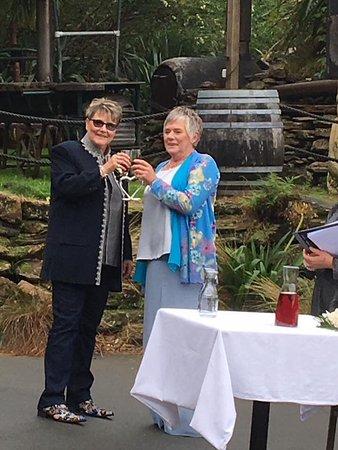 Lochmara Bay, Neuseeland: Wedding toast