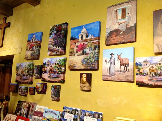 Carmel Mission: Paintings at souvenir shop