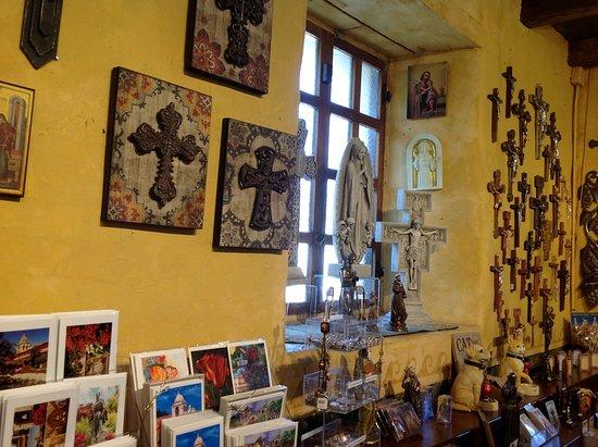 Carmel Mission: More art works at souvenir shop