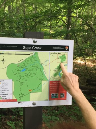 Marietta, Georgien: Example trail sign