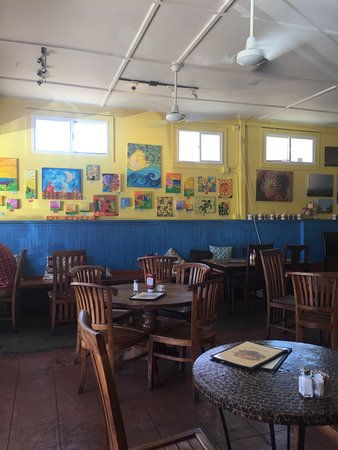 Cafe Mambo : Art for sale too.