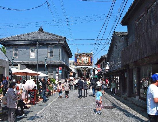 Nagahama, Ιαπωνία: 黒壁スクエアの中心部、黒壁ガラス館付近です。