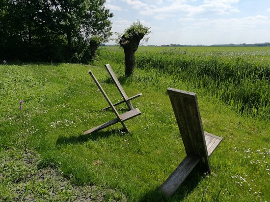 Molenrij, The Netherlands: Klappstühle am Feldesrand