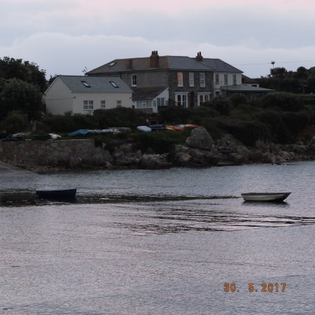Tolman House from Old Town harbour at dusk
