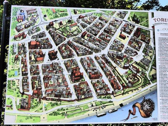 Map of Torun Picture of Town Square Old Town Torun TripAdvisor
