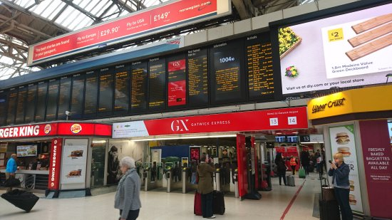 how to get from gatwick train station to south terminal