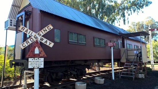 West Wyalong, Australia: Old train carrage accomodation