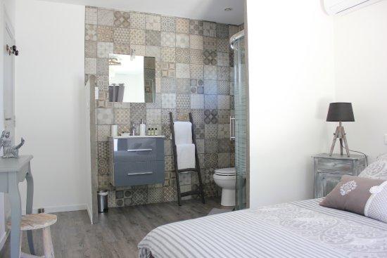 Chambre Cathy avec terrasse de 27m2 et sa salle d\'eau en open space ...