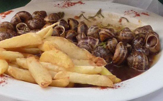 Loggia Taverna Restaurant : Schnecken in Rotwein-Balsamico-Sauce