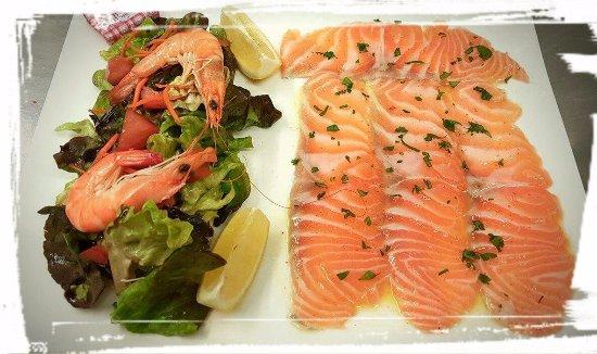 L'Entracte : carpaccio de saumon