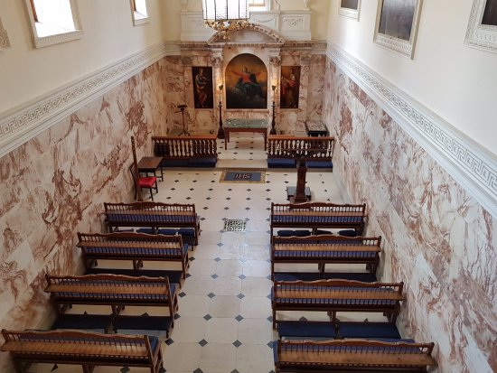 This is the chapel inside the ...