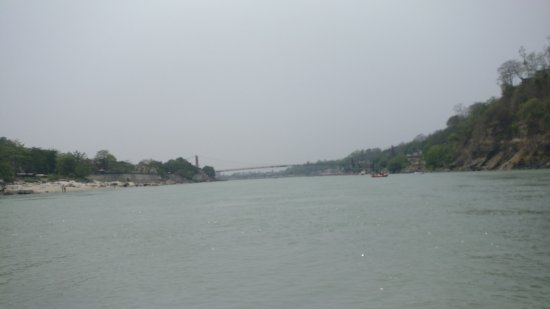 Rishikesh River Rafting: view from the raft