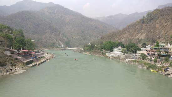 Rishikesh River Rafting: view from laxman jhula