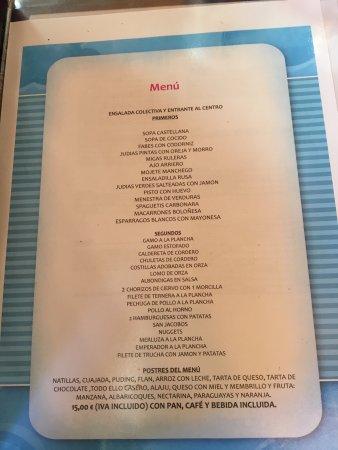 Una, إسبانيا: Restaurante Agua-Riscas
