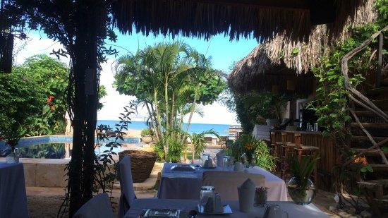 Casa na Praia: vista do cafe da manha