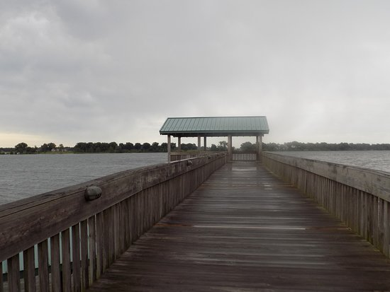 West Helena, AR: Boardwalk over the Mississippi River at the Welcome Center.