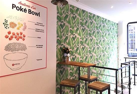 poké bowls ultra frais au poke bar - Picture of Poke Bar Opera ...