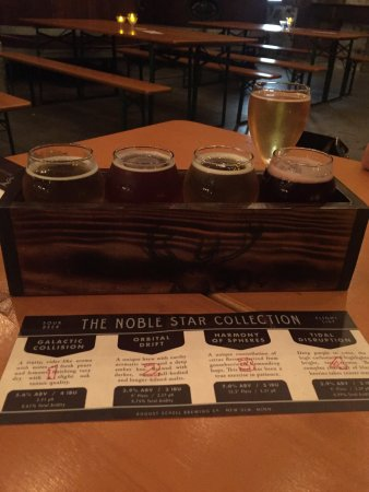 New Ulm, MN: Flight of delicious sour beers. Starkeller is the only brewery of its kind in the upper Midwest.