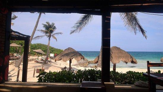 Restaurant Piedra Escondida: View from patio seating