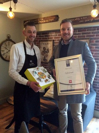 Ballon, İrlanda: Receiving award from Irish Restaurant Association voted Best Cafe in Leinster in March 2017