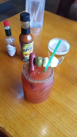 Somerset, WI: Bloody mary only $6