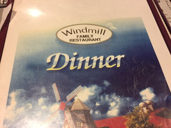 Morgantown, PA: Windmill menu