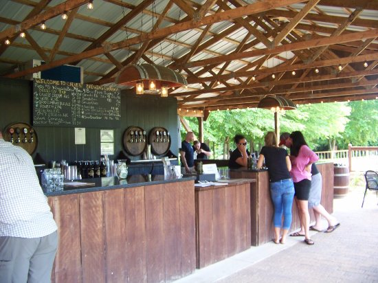 Running Hare Vineyard: View of the beer tasting/bar