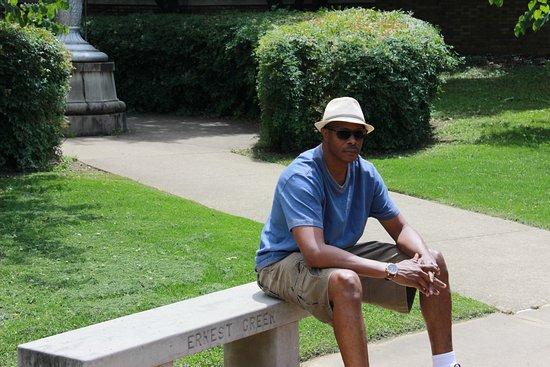 Little Rock Central High School: Ernest Green bench