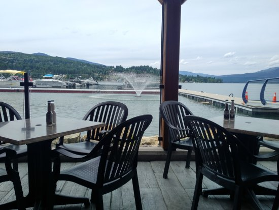 Blind Bay, Canada: View from one of the dining decks...