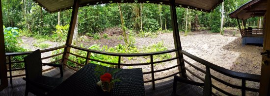 Sukau Rainforest Lodge: Each Villa has a private balcony