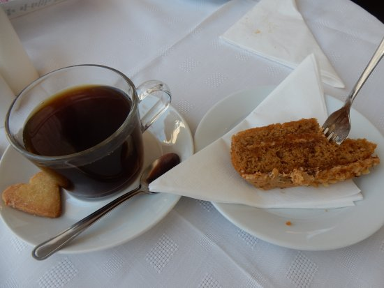 Strathaven, UK: Coffee Walnut - delicious - as was the coffee.