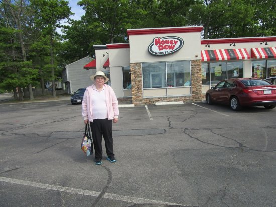 North Attleboro, MA: That is me at Honey Dew Donuts.