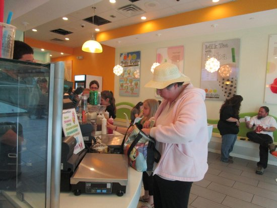 North Attleboro, MA: That is me at Tutti Frutti Emerald Square Mall.