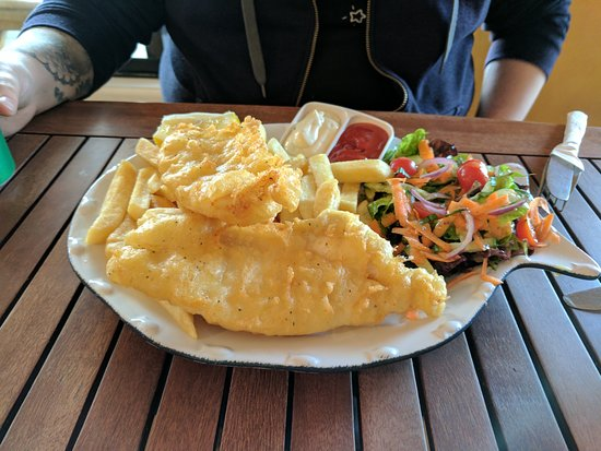 Kawhia, New Zealand: Fish and chips