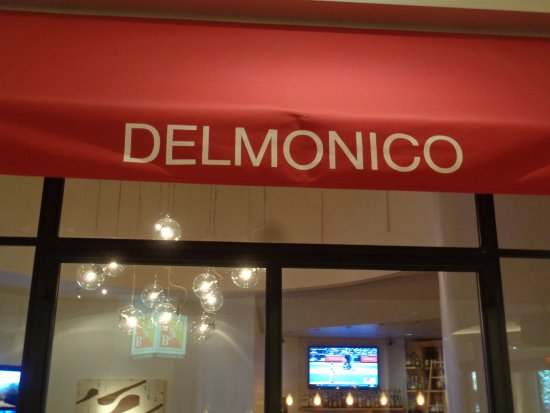 Delmonico Steakhouse: front sign