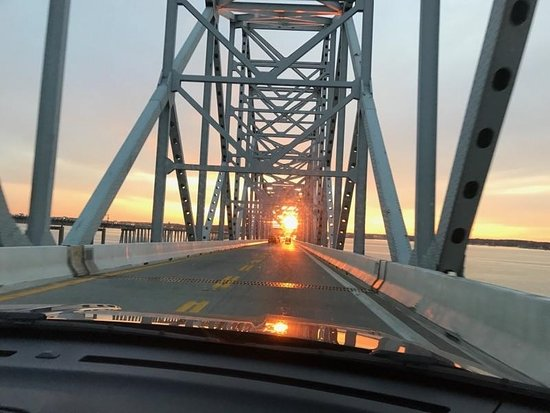 Annapolis, Maryland: Crossing Chesapeake Bay Bridge heading to St. Michaels Maryland.