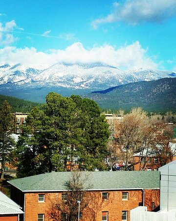 San Francisco Peaks: A shot I took back in December- it towers the beautiful city of Flagstaff