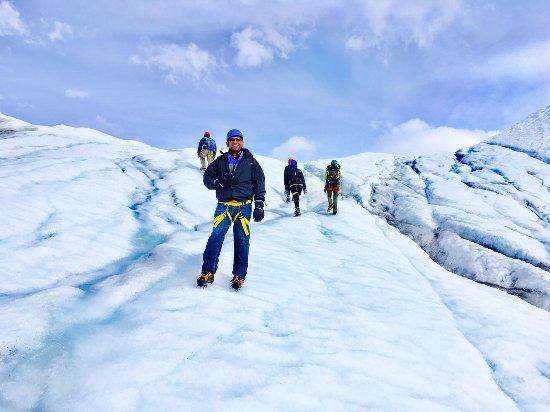 Glacier View, อลาสกา: Hiking up