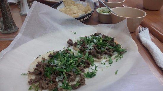 Carne Asada Tacos with onion & cilantro