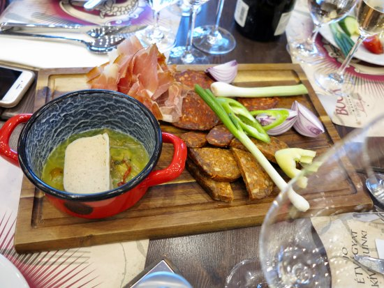 Villany, Ungheria: Plate of the good stuff....