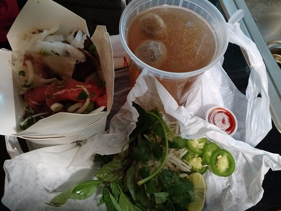 San Leandro, CA: Combination Special Beef Noodle Soup as take out