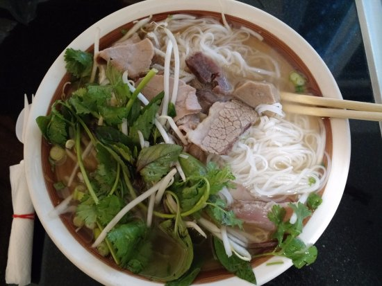 San Leandro, CA: Combination Special Beef Noodle Soup in a bowl