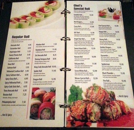 Algonquin, IL: more sushi rolls, including the chef's specials