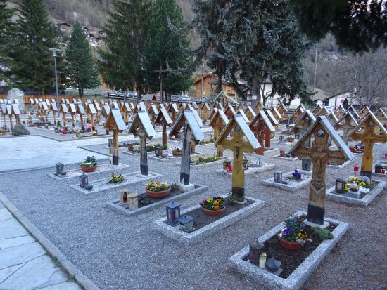 Cemetery infront of the church
