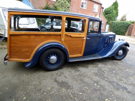 Docking, UK : 1936 Austin York 16-6 shooting brake