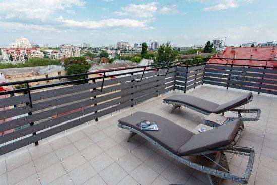 Terrace bild von uno design hotel odessa tripadvisor for Design hotel odessa