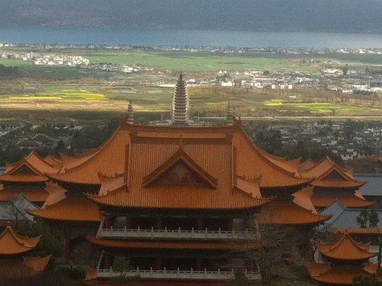 Chongsheng Three Pagodas: Dali trois pagodes paysage