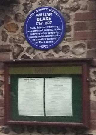 Felpham, UK: A story about William Blake and Fox Inn