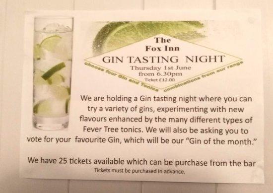 Felpham, UK: Gin Tasting night