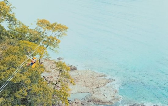 Sabang X Zipline: Zip lining 800 meters - check us out on Youtube (The NYC Couple)